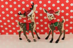 Retro Reindeer Toppers / Cake Decorations / by ChristyMaries83