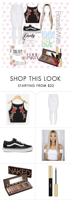 """""""Roses&White"""" by beautygurue ❤ liked on Polyvore featuring Vans, Urban Decay and Yves Saint Laurent"""