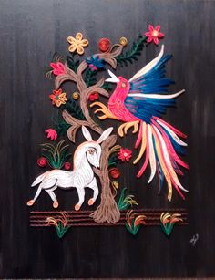 Paper Quilling Designs - Framed Greeting Cards Holiday Cards Commissioned Cards Commissioned Framed Designs Quilled Jewelry Quilled Bowls and Boxes Quilling with Nature Paper Quilling Designs, Quilling Cards, Southwest Art, Mexican Folk Art, Holiday Cards, Rooster, Moose Art, Greeting Cards, Creatures