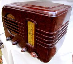 G.E. Bakelite radio gorgeous brown marbled finish partial restored beauty GE54!