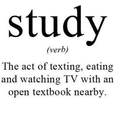 Study (v) from Advanced Learner English Dictionary