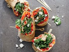 Spinach, Hummus, and Bell Pepper Wraps | Although vegetarian dishes are sometimes associated with complicated ingredients and techniques, these simple recipes are here to show otherwise. Totally veggie-friendly, and flavor packed, these easy recipes will satisfy everyone in the family, whether vegetarian or not. If you're looking for an easy-pack lunch then look no further than Spinach, Hummus, and Bell Pepper Wraps or Greek Spaghetti Squash Toss.