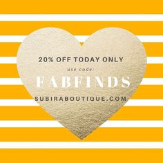 Our gift of the day.  Shop with us at http://ift.tt/1jxgIoN and receive 20% off your entire order  Enter code FABFINDS  #natural #peace #subiraboutique #ncat #uncg #gtcc #girlpower #classymeetsfabulous #greensboro #charlotte #highpoint #fashion #shopwithus #girlboss #bossbabe