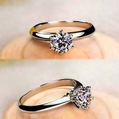 Affordable Man Made 1 Ct Diamond Like Real Promise Ring in Sterling Silver [100578] - $73.99 : jewelsin.com