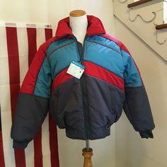 Vintage 80s Snowboarding Jacket - Ski Coat - Color block Retro Ski Jacket -  Hipster Coat c08c06ada