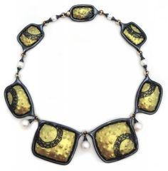 Jose Marin, Domus Pompeiana, 2013,18k gold, titanium, Akoya pearls, Australian pearls