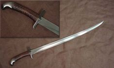 Elvish blade and inspired sword design. Fantasy Sword, Fantasy Weapons, Swords And Daggers, Knives And Swords, Tactical Swords, Sword Design, Medieval Weapons, Cool Knives, Arm Armor