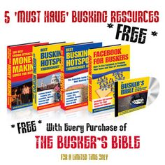 Get The Art Of Successful Busking For Fun and Profit To Increase your income and propel your career. http://musicianproducts.com/2013/02/the-buskers-bible/