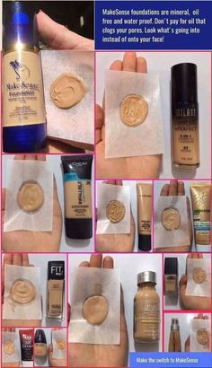 Does your foundation leave your pores clogged with oil? Does your foundation leave your pores clogged with oil? Senegence Foundation, Makesense Foundation, Waterproof Foundation, Best Foundation For Oily Skin, Foundation Colors, Drugstore Foundation, Beauty Tips For Hair, Beauty Hacks, Beauty Bar