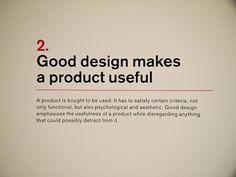 2. Dieter Rams: Principles for Good Design