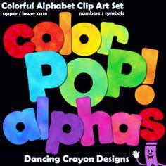 Alphabet Clip Art Letters: Color POP!   Bulletin Board Letters