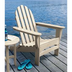 L.L.Bean All Weather Adirondack Chair ($299) ❤ Liked On Polyvore Featuring  Home