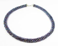 Purple Kumihimo Necklace by kiddercreations on Etsy