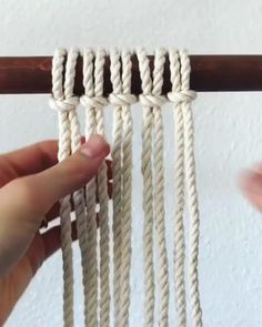 Mini Macrame Tutorial Diy Home Decor Macrame Mini Tutorial Macrame Design, Macrame Art, Macrame Projects, Sewing Projects, Macrame Plant Hanger Tutorial, Macrame Plant Hangers, Diy Macrame Necklace Tutorial, Art Macramé, Macrame Wall Hanging Patterns