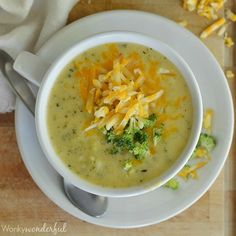 A comforting bowl of homemade soup made in 30 minutes. This Broccoli Cheese Soup is an easy, one-pot vegetarian meal that is gluten free too!