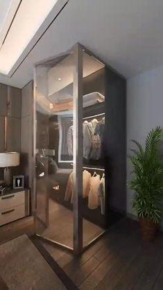Small House Interior Design, Small Room Design, Apartment Interior Design, Home Room Design, Bedroom Closet Design, Bedroom Furniture Design, Modern Bedroom Design, Modern House Design, Modern Houses
