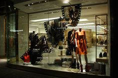 Mulberry Tim Walker exhibition windows at Bond street, London