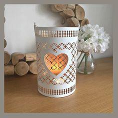 Lattice heart lantern