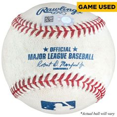 Nomar Mazara Texas Rangers Fanatics Authentic Game-Used Foul Ball Baseball vs. Pittsburgh Pirates on May 29, 2016 - $39.99