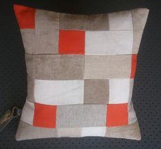 igloo Tangerine Patchwork Cushion Design. $180.00, via Etsy.