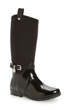 Free shipping and returns on MICHAEL Michael Kors Brea Waterproof Charm Boot (Little Kid & Big Kid) at Nordstrom.com. A decorative buckle strap with a glimmering logo charm adorns the ankle of this waterproof rubber boot with a stretchy woven shaft that makes for easy on and off.