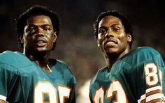 Miami Dolphins wide receivers Mark Duper85 and Mark Clayton83