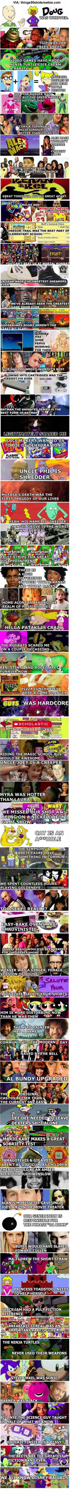 69 things you now realize if you are a 90s kid