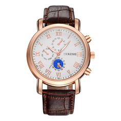 Elegantly designed business watch for men. Watches For Men, Men's Watches, Metal Stamping, Quartz Watch, Fashion Accessories, Stainless Steel, Band, Luxury, Leather