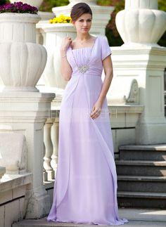 Kleid für die Brautmutter mit Rüschen Perlen verziert Pailletten