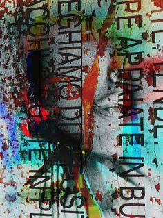 'One face and letters' von Gabi Hampe bei artflakes.com als Poster oder Kunstdruck $18.03