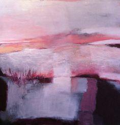 'In de avond' , 'In the evening'  acryl/polymer #abstract painting. 2015, 80x80cm. #rose #grey #black # zwart #grijs #roze  #art #artforsale #buskermolen #buskermolen.exto.nl
