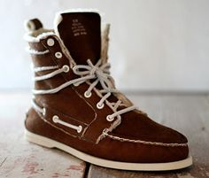 shearling sheep skin sperry top siders