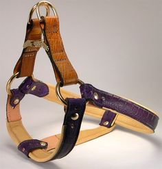 Luxury Leather Dog Harness ~ Padded with deerskin lining and engraved ID ~ Hand Crafted | Hand Craftd Dog Collars