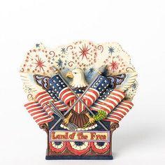 Jim-Shore-Patriotic-American-Eagle-w-Flags-Fireworks-Figurine. Added 6/2/16