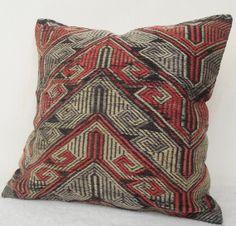 SALE  80 Y.O. Kilim Pillow  Decorative Grey n' by Sheepsroad, $85.00