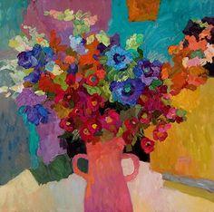 Larisa Aukon,Good Morning by Larisa Aukon Oil ~ 24 x 24