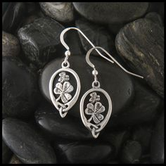 Sterling Shamrock Earrings