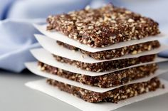 Stay energized with these Choco-Cherry Almond Energy Bars with Chia Seeds.