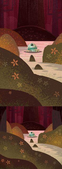 R2D2 On Dagobah | Illustrator: Adam Grason