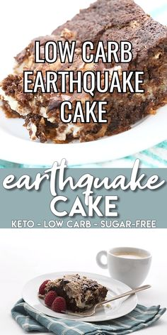 May 2019 - Dudes! This low carb mixed up cake is EVERYTHING. Delicious grain-free chocolate cake with coconut, pecans, cream cheese and chocolate chips, all jumbled together in one fantastic mess. Bon Dessert, Dessert Aux Fruits, Low Carb Deserts, Low Carb Sweets, Low Carb Cakes, Low Calorie Cake, Desserts Keto, Keto Snacks, Desserts For Diabetics