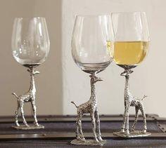 Giraffe Wine Glass, Set of 2 | Loving On The Animals.