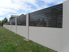 Elitewall Slat Fences are one of a range of high-quality fencing, gate and bollard products available from Boundaryline, New Zealand's fencing specialists. House Gate Design, Gate Ideas, Backyard Fences, Fencing, New Zealand, Landscaping, Garage Doors, Exterior, Outdoor Decor