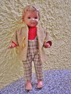 Alte Puppe von Schildkröt -Ursel T44 - Braune Augen - 50 er Jahre | eBay