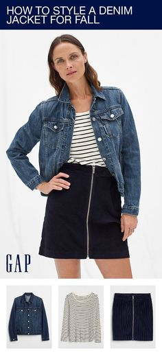 d9d2871e5a63 How to style a denim jacket for fall  Layer our great Icon jacket over your