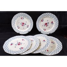 6 plates Digoin Sarregemines France, Bastia, vintage, vintage, vintage... (€39) ❤ liked on Polyvore featuring home and home decor