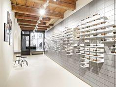 High-quality designer glasses from 175 CHF. ▶ Visit us. Bern, Sunglasses Store, Optician, Minimalist Interior, Interior Design, Sunnies, Shelving, Style Fashion, Minimalism