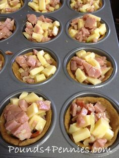 Simply easy and delicious best ham and cheese muffin tin meal idea. Great leftover ham recipe to make in muffin cups. Great for dinner or breakfast ideas.