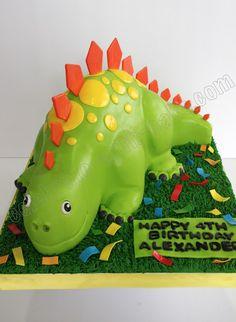 Cute Stegosaurus Cake Dinosaur Birthday Party, Birthday Party Themes, Birthday Ideas, Dino Cake, Dogs And Puppies, Singapore, Dinosaur Stuffed Animal, Invitations, Homemade