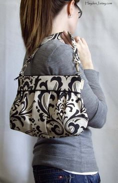 Black and white purse. Simply elegant.