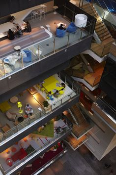 Open Office Public Space Design at ANZ Center by Hassel